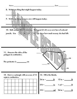 4th grade EDM Preview/Review 5-8