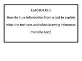 4th grade ELA Essential Questions