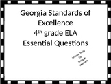 4th grade ELA Essential Questions for GSE with Black and White border