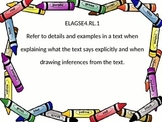 4th grade ELA Georgia Standards of Excellence  posters