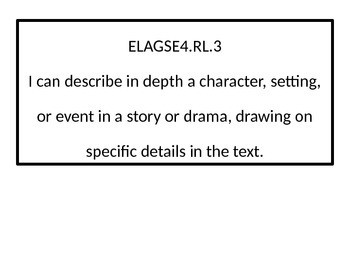 4th grade ELA I Can statements.