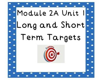 4th grade ELA Module 2A Unit 1 Targets