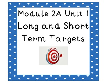 4th grade ELA Module 2A Unit 1 Targets
