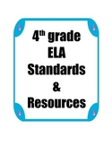 4th grade ELA Standards and Resources Binder
