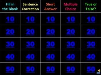 4th grade Grammar Games Set of Two