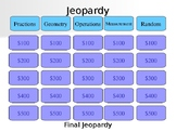 4th grade End of Year Math Jeopardy