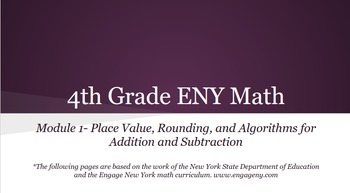 4th grade Engage NY Math Module 1 (Bundle) Topics A - F, Lessons 1-19