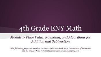 4th grade Engage NY math Module 1 Topic A Lesson 1