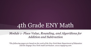 4th grade Engage NY math Module 1 Topic A Lesson 3