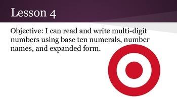 4th grade Engage NY math Module 1 Topic A Lesson 4