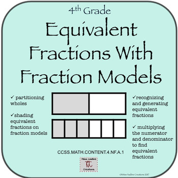 4th grade Minilessons:Equivalent Fractions using Fraction Models