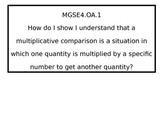 4th grade Essential Questions for G.S.E.