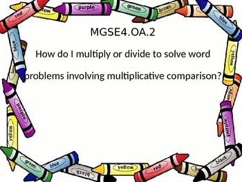 4th grade Essential Questions posters on a crayon border.