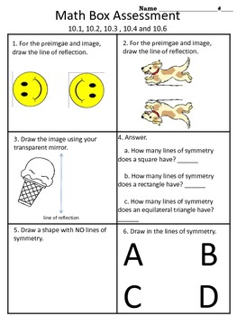 4th grade Everyday Math Unit 10 math box assessment