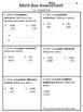 4th grade Everyday Math Unit 2 math box assessment