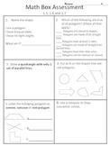4th grade Everyday Math Units 1-12 (whole year) math box assessments.