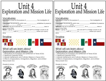 4th grade Exploration and Mission Cover