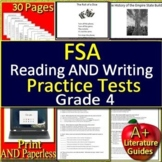 4th grade FSA Writing AND FSA Reading Practice Tests Bundle - 2019 Format