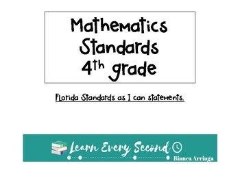 4th grade Florida's Mathematics Standards