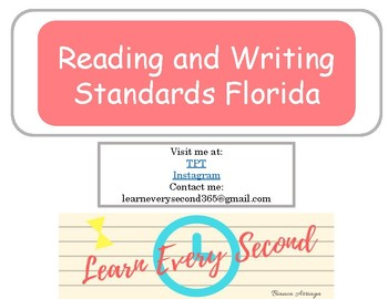4th grade Florida's Reading and Writing Standards