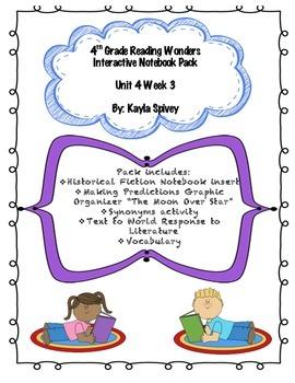 4th grade (Fourth Grade) Unit 4 Week 3 Reading Wonders Interactive Notebook