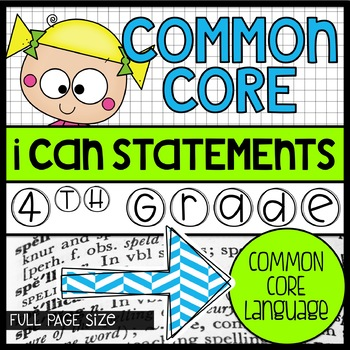 4th grade Full Size Common Core Standards Posters {green, blue, gray patterns}