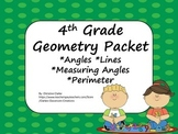 4th grade Geometry Packet- common core