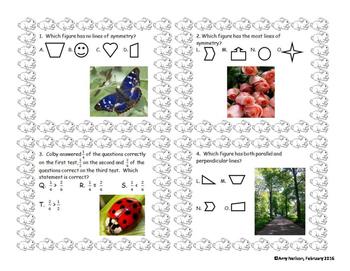 4th grade Geometry Review: Springtime Theme
