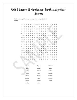 4th grade HMH Journeys 2014 Unit 3 Lesson 11 Spelling and Vocabulary Worksheets