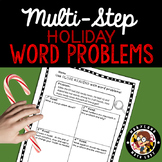 4th grade Holiday Word Problems - Close Reading!