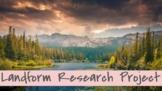 4th grade Landform Research Project (Regions)