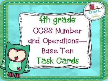 4th grade Math CCSS NBT Task Cards