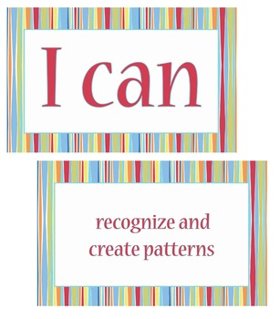 """4th grade """"I Can Statements"""" Math Standard Posters"""