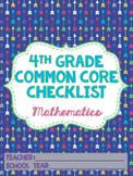4th grade Math Common Core Standards Checklist
