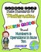 4th grade Math Common Core Standards Posters BUNDLE