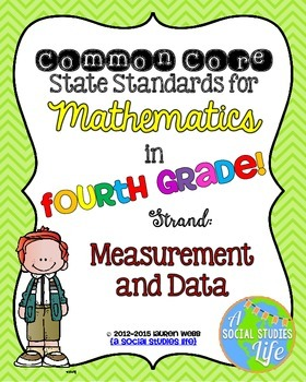 4th grade Math Common Core Standards Posters Measurement and Data