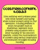 4th grade Math Common Core Standards Posters Operations and Algebraic Thinking