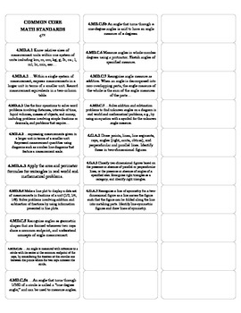 4th grade Math Common Core Standards Stickers (page 2 of 2)