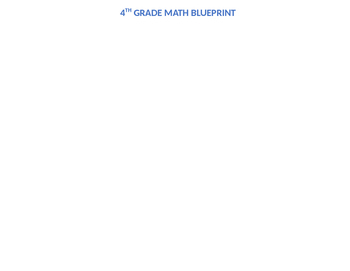 4th grade Math MAFS blueprint