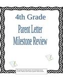 4th grade Math Milestone  Georgia CCGPS Parent Review Letter