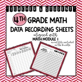 4th Grade Math Module 1 | Student Data Tracking Sheets | Teacher Data Grade Book