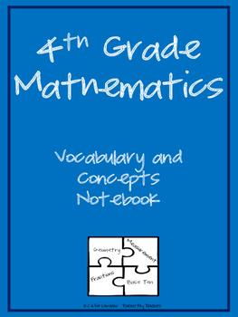 4th grade Math Notebook