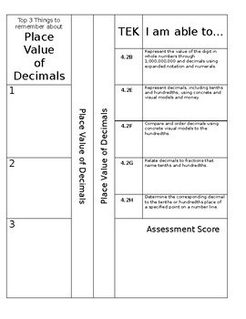 4th grade Math Notebook Dividers