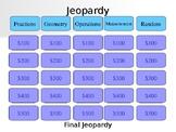 4th grade Math PSSA Jeopardy