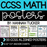 """CCSS Aligned 8.5"""" x 11"""" Math Anchor Charts   Distance Learning"""