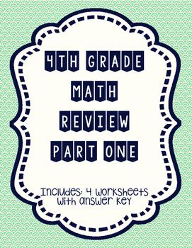 4th grade Math Review Part 1