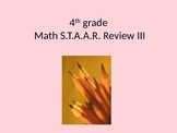 4th grade Math STAAR Review III