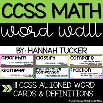 CCSS Math Word Wall