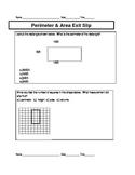 4th grade Measurement Unit Exit Slips