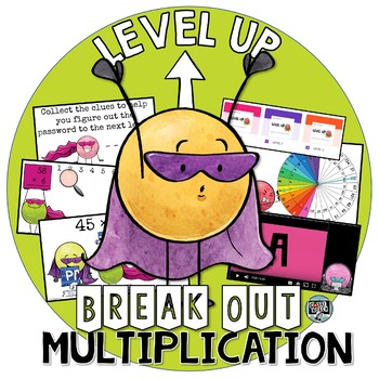4th grade Multiplication Level Up  (Digital Break Out/ Escape Room)